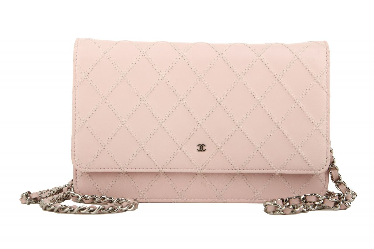Chanel Wallet on Chain Rosa