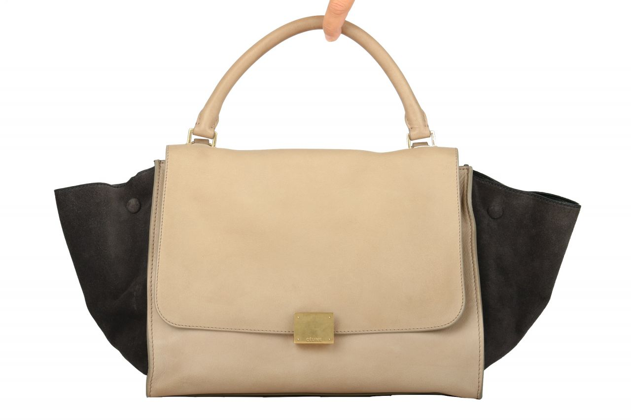 Céline Trapeze Bag Medium Beige