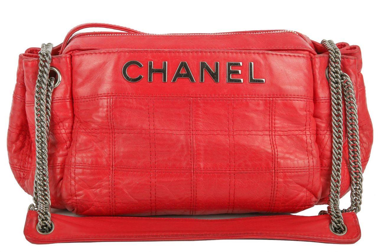 Chanel Vintage Schultertasche Rot