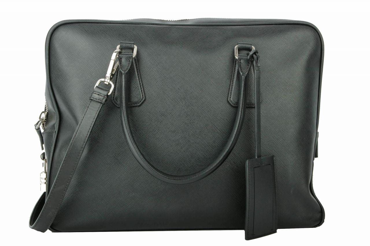 Prada Business Bag Saffiano Schwarz