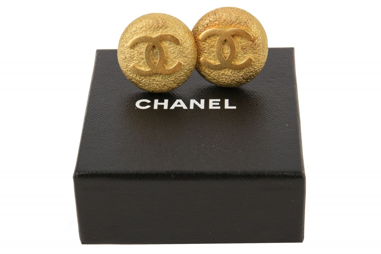 Chanel CC Ohrclips Gold