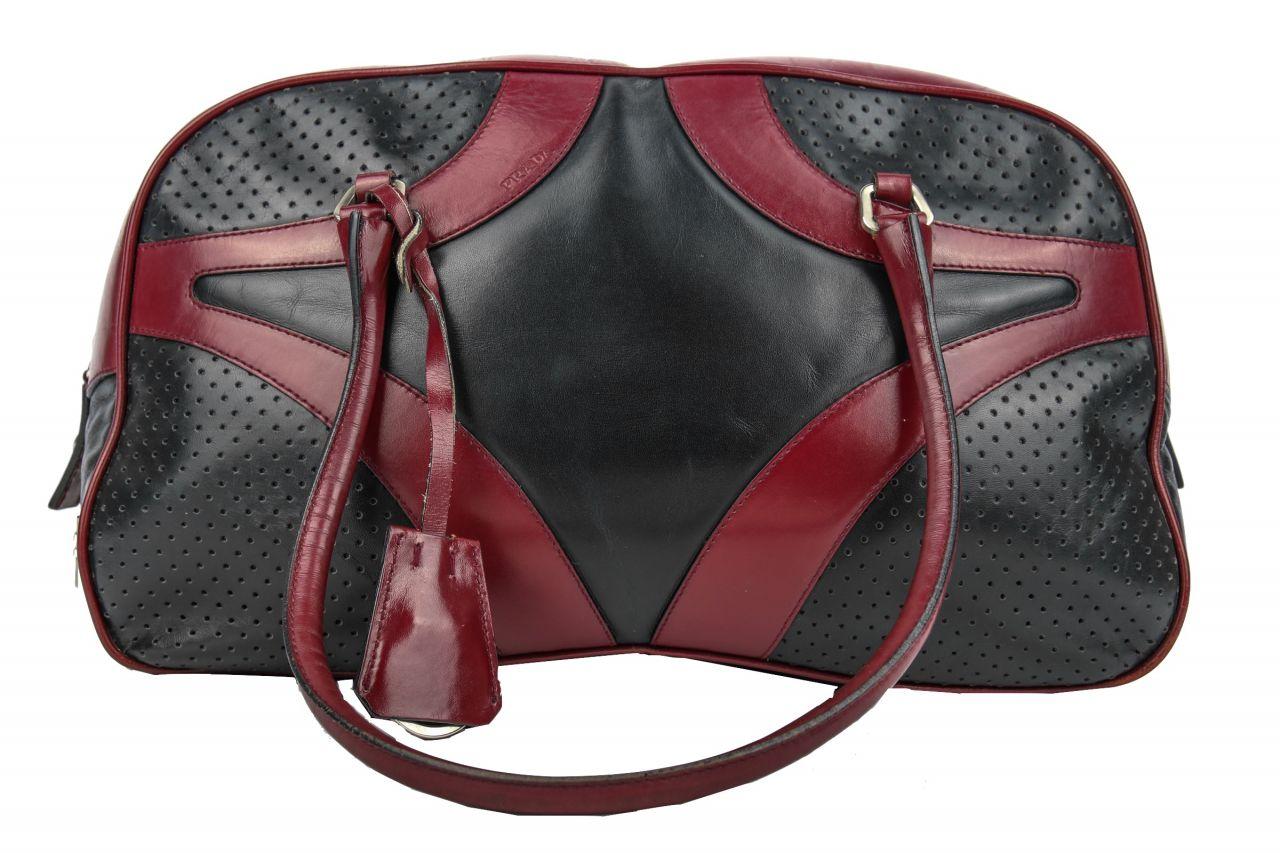 Prada Handtasche Rot/Schwarz