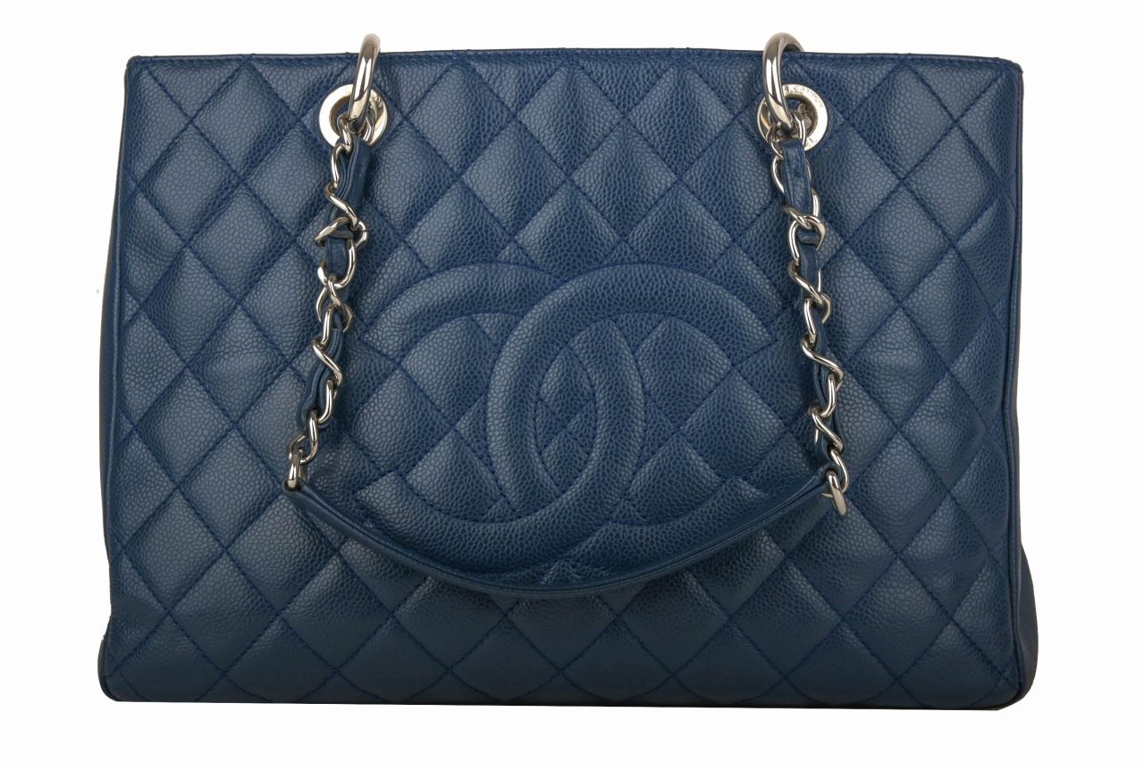 Chanel GST Shopping Tote Blue