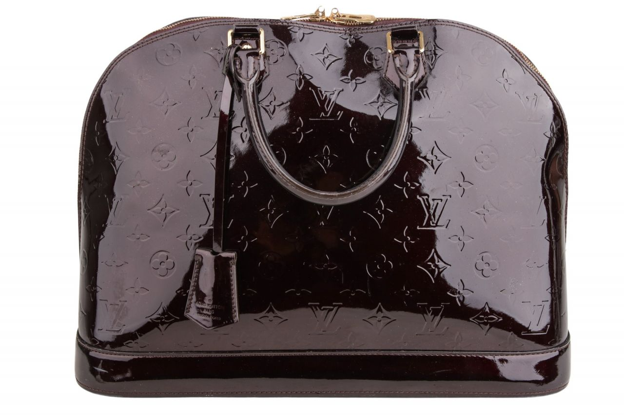 Louis Vuitton Alma GM Vernis Bordeaux