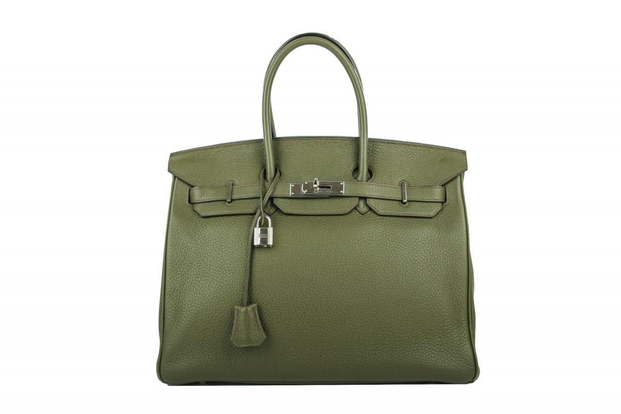 Hermès Birkin Bag 35 Olive Grün Togo