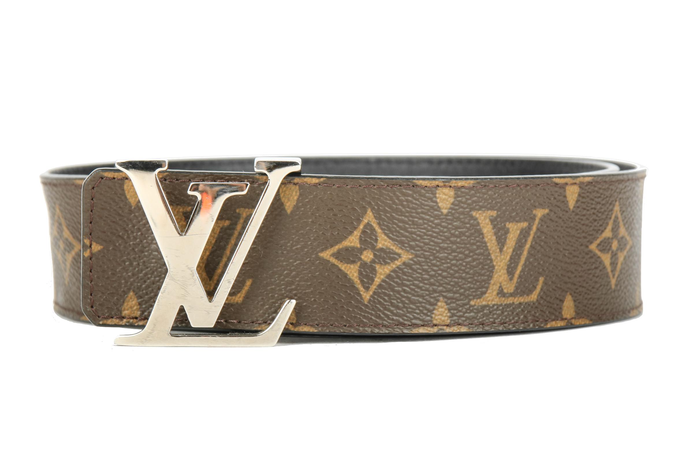 7e3f61d833cfa Louis Vuitton Initial Belt Monogram Canvas   Black 85