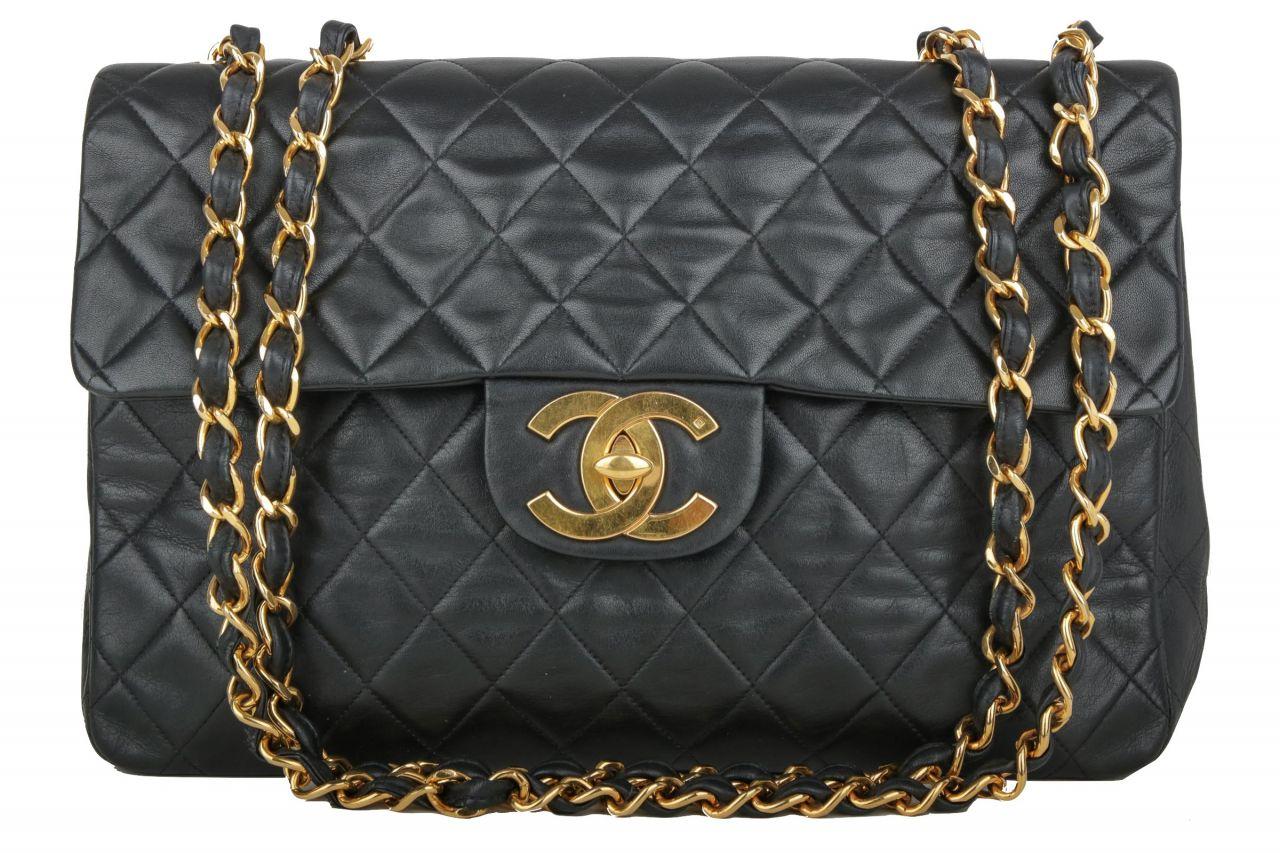 Chanel Maxi Single Flap Bag Schwarz