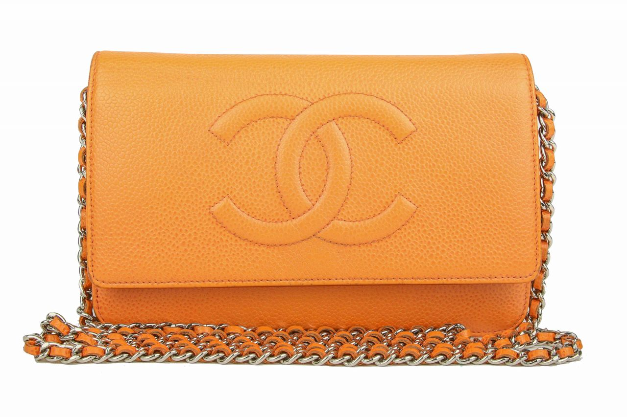 Chanel Wallet on Chain Bicolor Apricot
