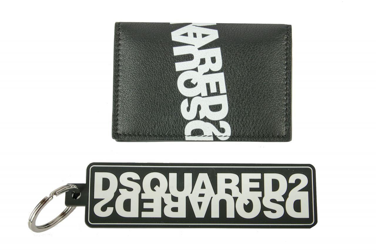 Dsquared2 Set aus Kartenetui und Schlüsselanhänger Schwarz