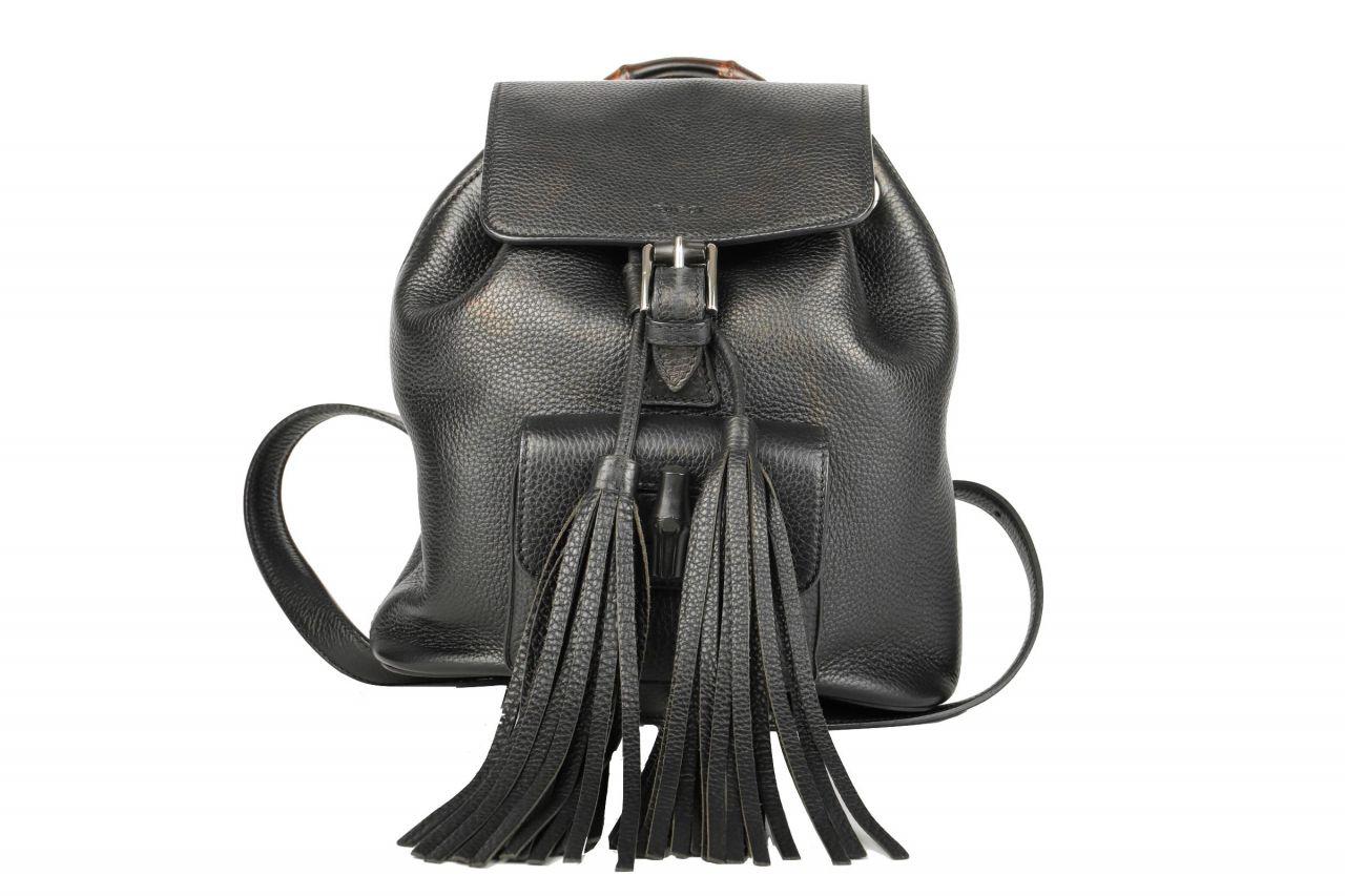 Gucci Bamboo Bagpack Black