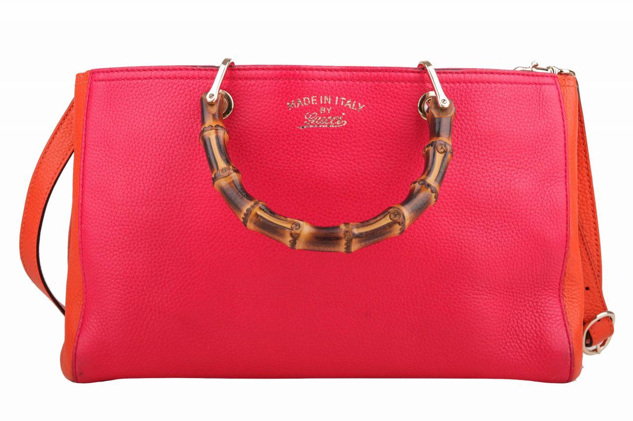 Gucci Bamboo Bag Bicolor Orange/ Pink