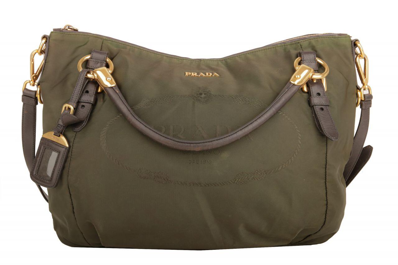 Prada Nylon Tasche Grün