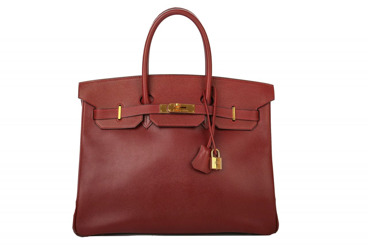 Hermès Birkin Bag 35 Rouge Epsom Leather