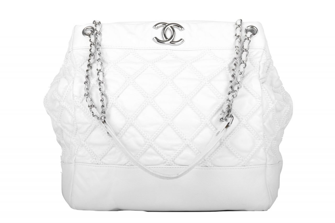 Chanel Shopper White