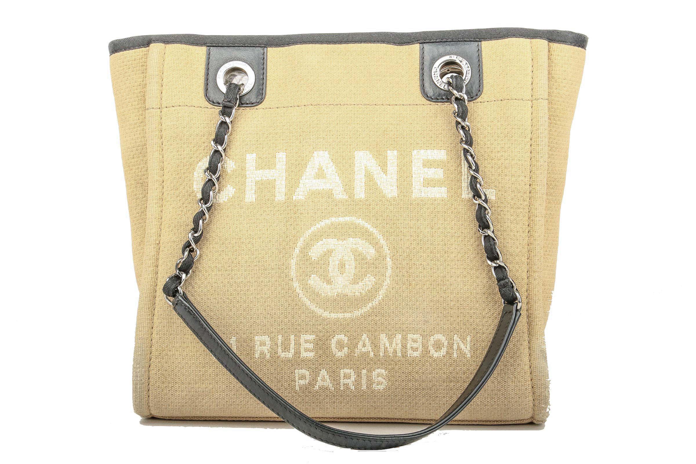da4efe7b2568 Preview: Chanel Deauville Tote Bag Small Ecru. Preview: Chanel Deauville  Tote Bag Small Ecru