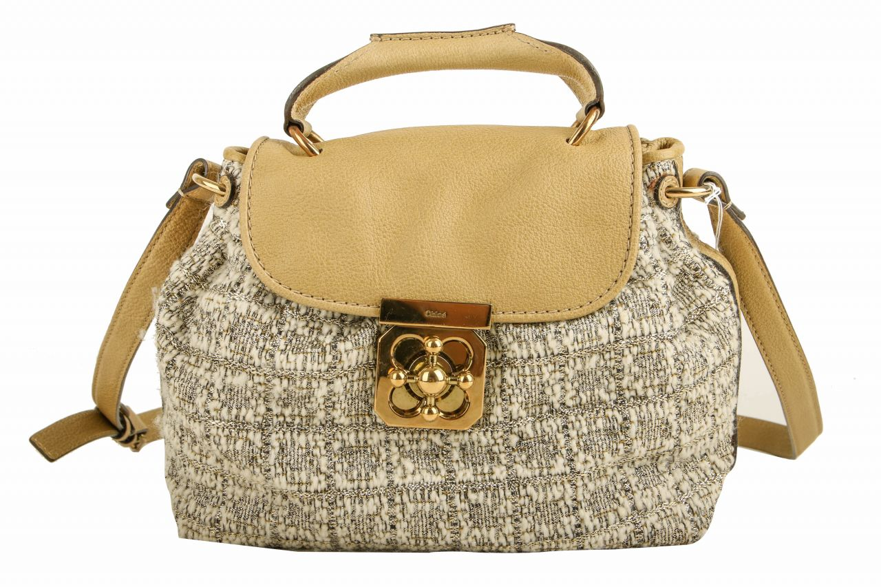 Chloé Tweed Bag Beige