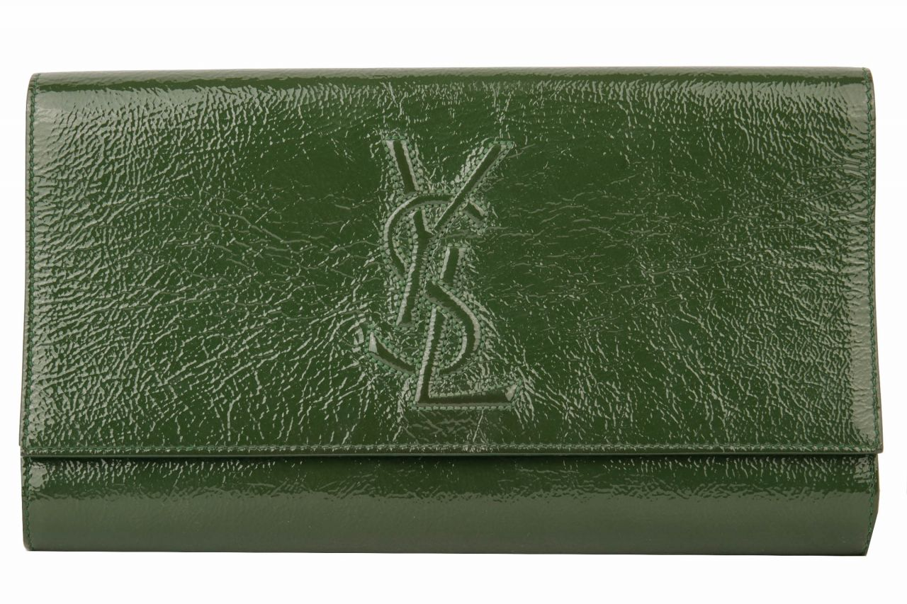 Yves Saint Laurent Vintage Clutch Grün