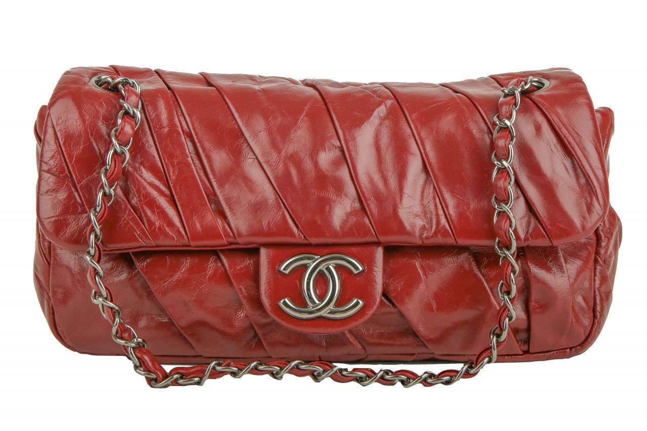 Chanel Crossbody Single Flap Bag Rot