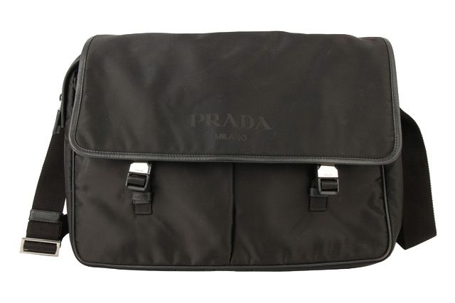 Prada Messenger Bag Nylon Schwarz