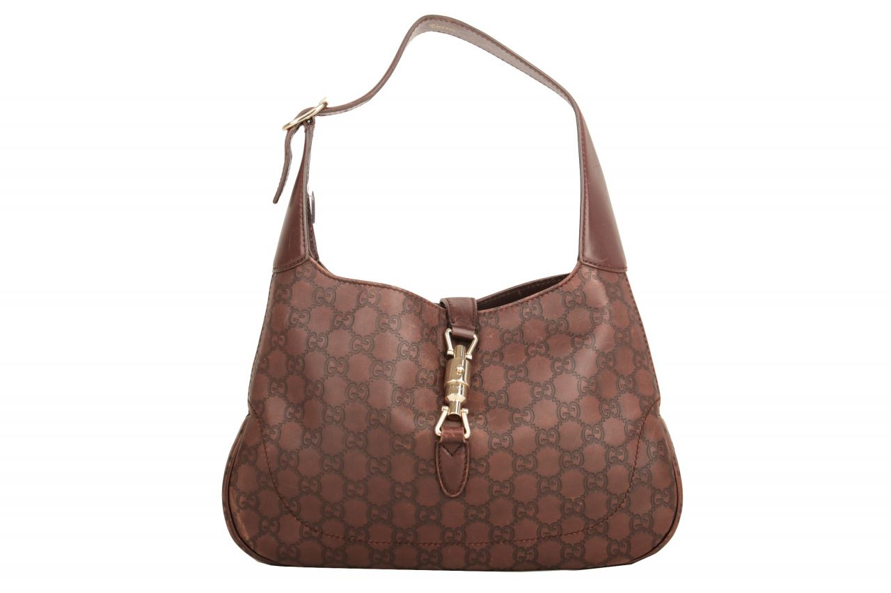 Gucci Jackie GG Leather Brown