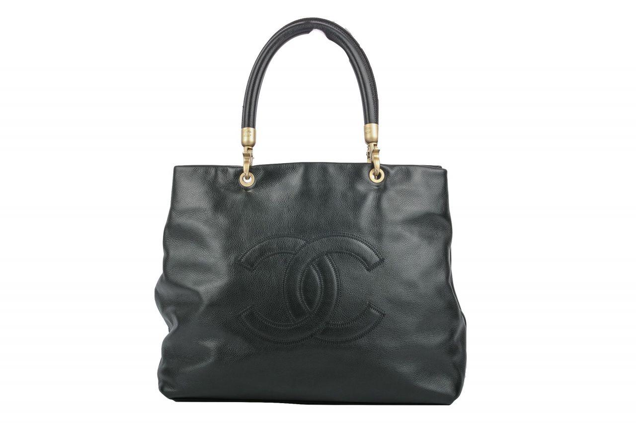 Chanel Shopper Kaviarleder Schwarz