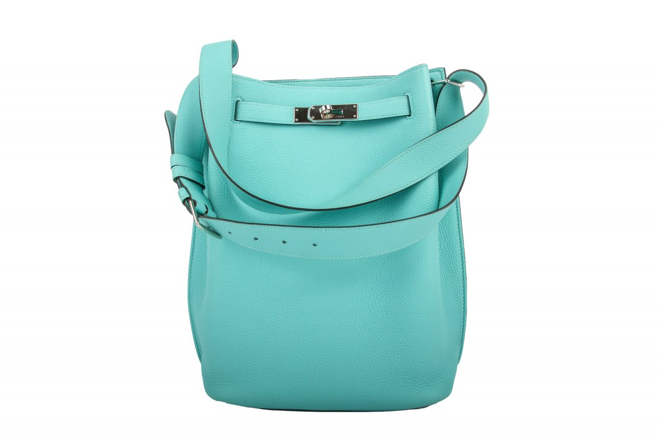 Hermès So Kelly Bag 22 Turquoise