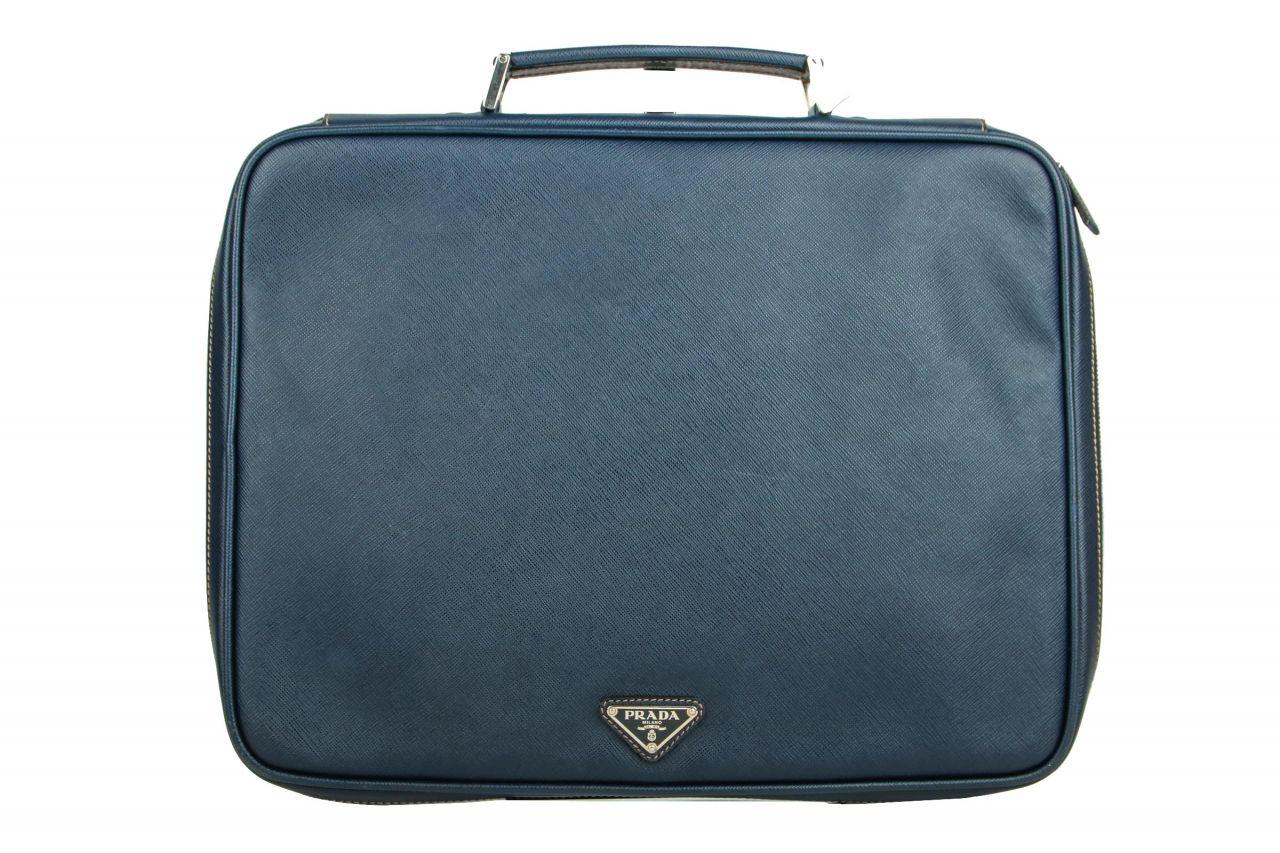 Prada Saffiano Laptoptasche Blau