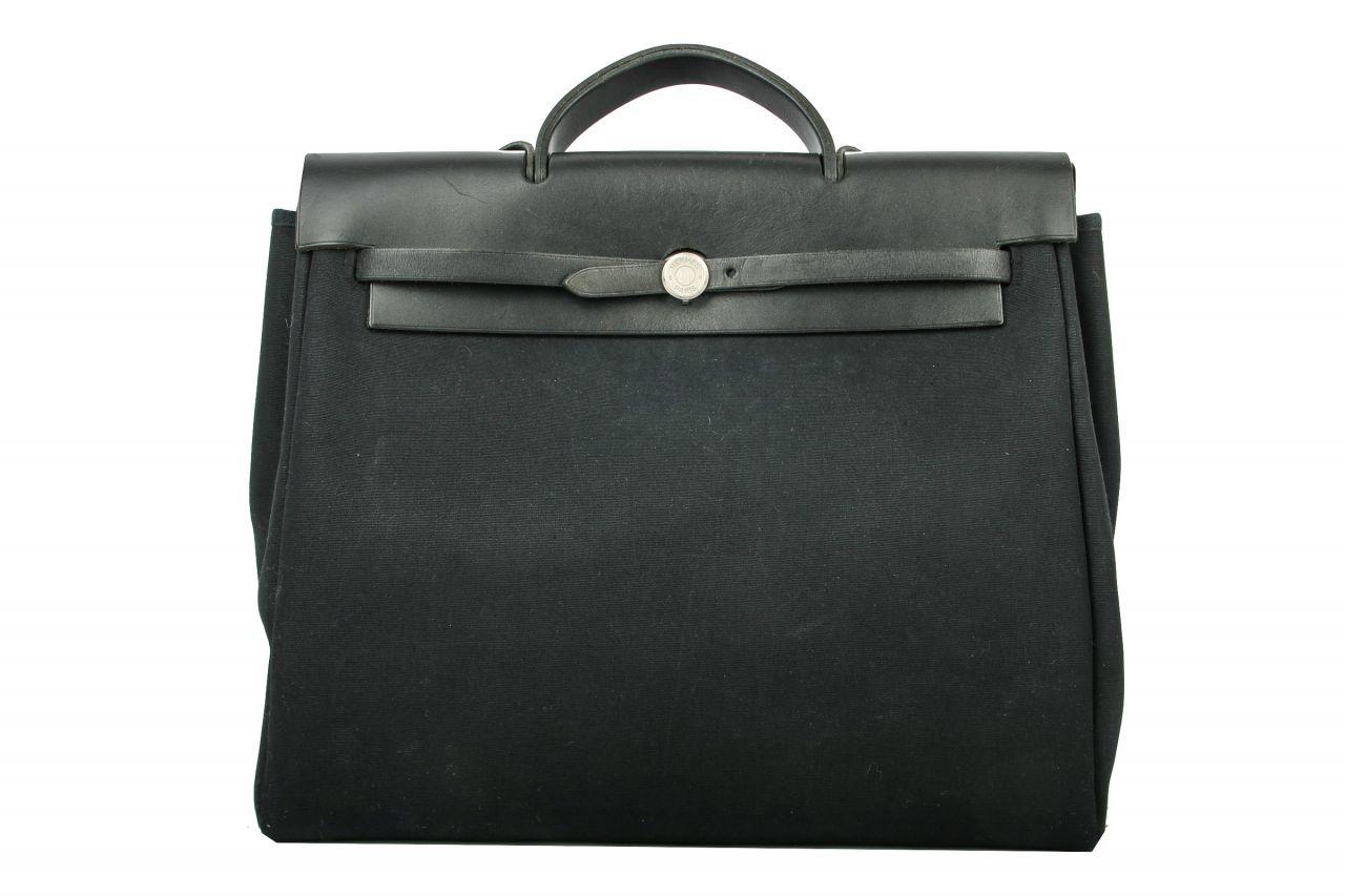 Hermès Herbag schwarz