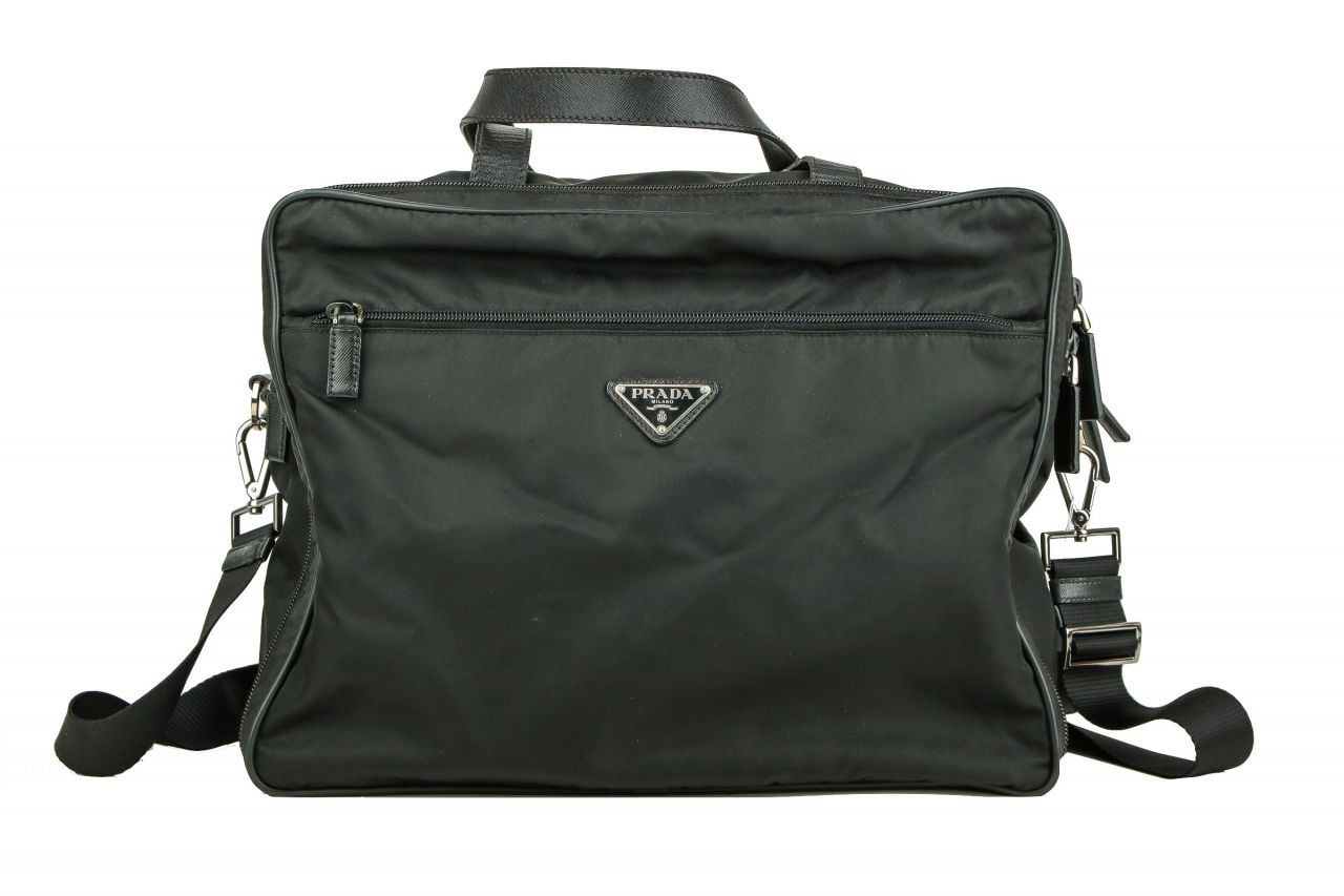 Prada Nylon Business Bag Black