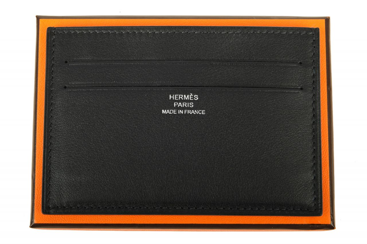 Hermès Card Holder Black