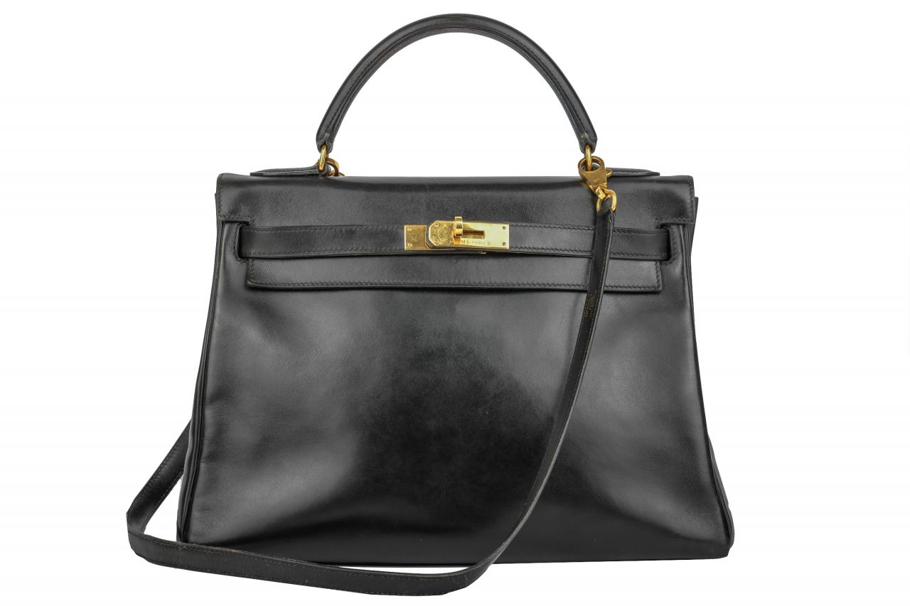 Hermès Kelly Bag 32 Returnee Bijou Schwarz