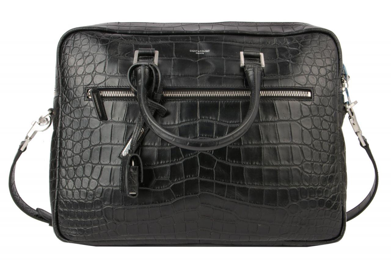 Saint Laurent Briefcase Calf Leather Schwarz