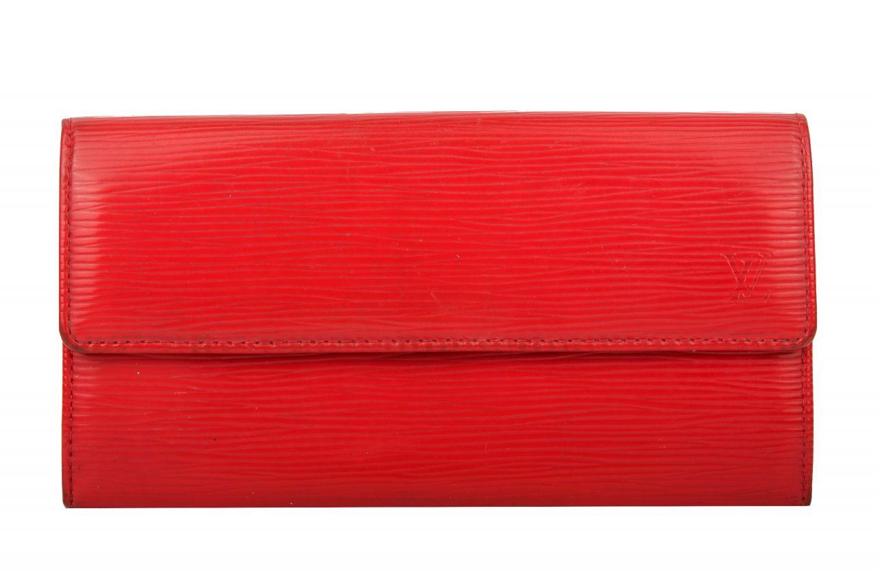 Louis Vuitton Geldbörse Epi Leder Rot