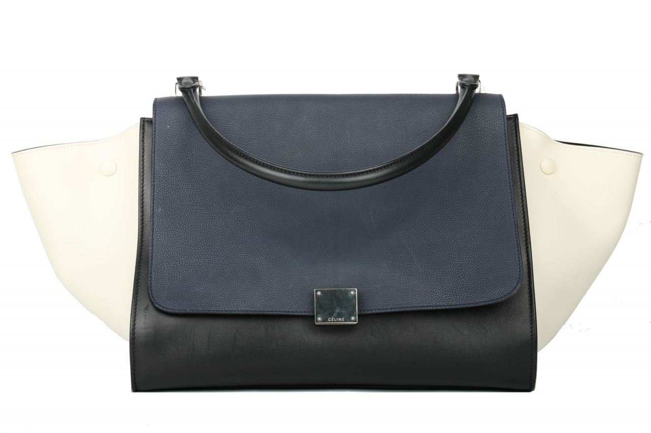 Céline Trapeze Bag Large Blau