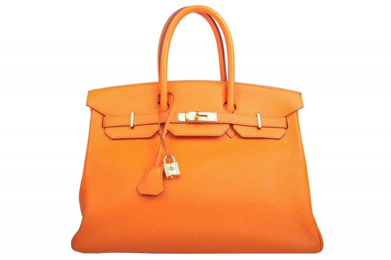 Hermès Birkin 35 Orange Togo Leder