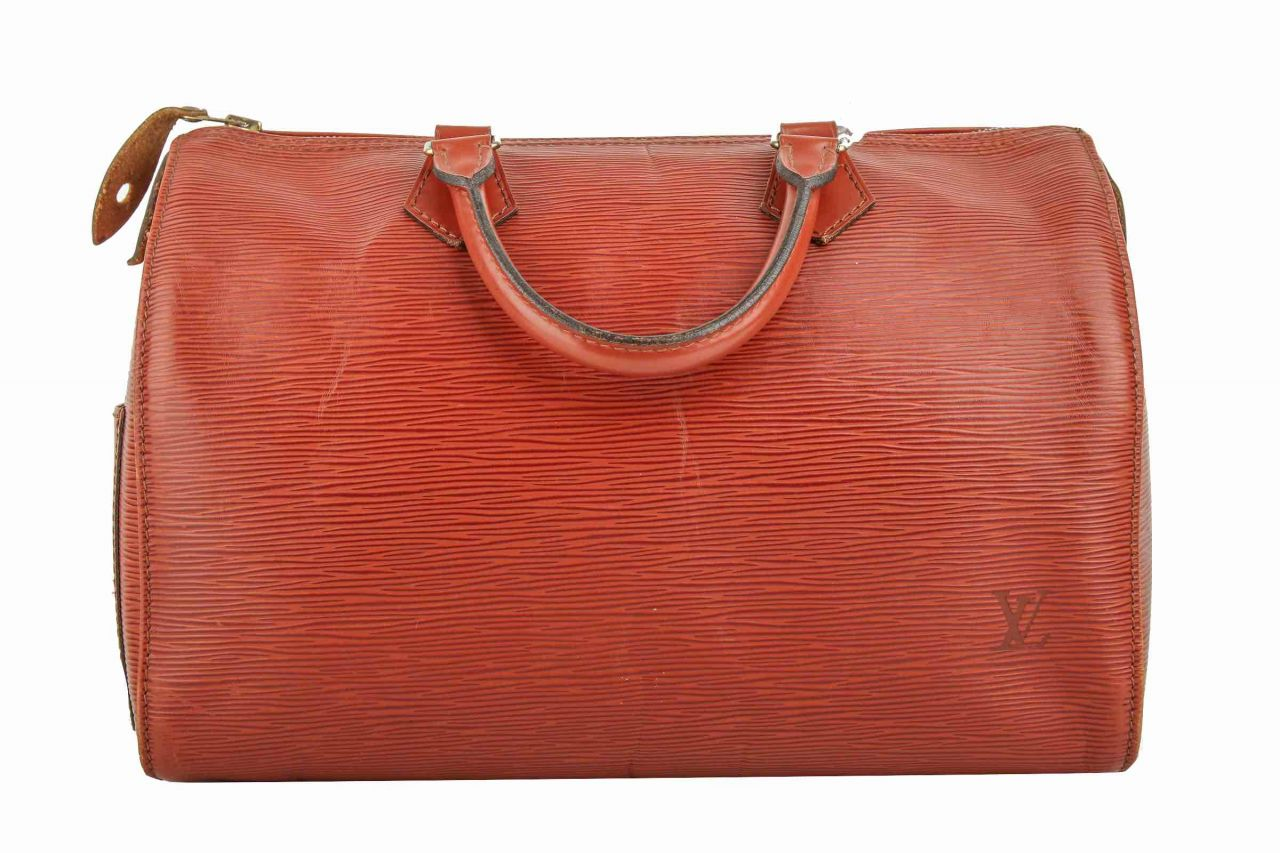 Louis Vuitton Speedy 35 Epi Leder Cognac