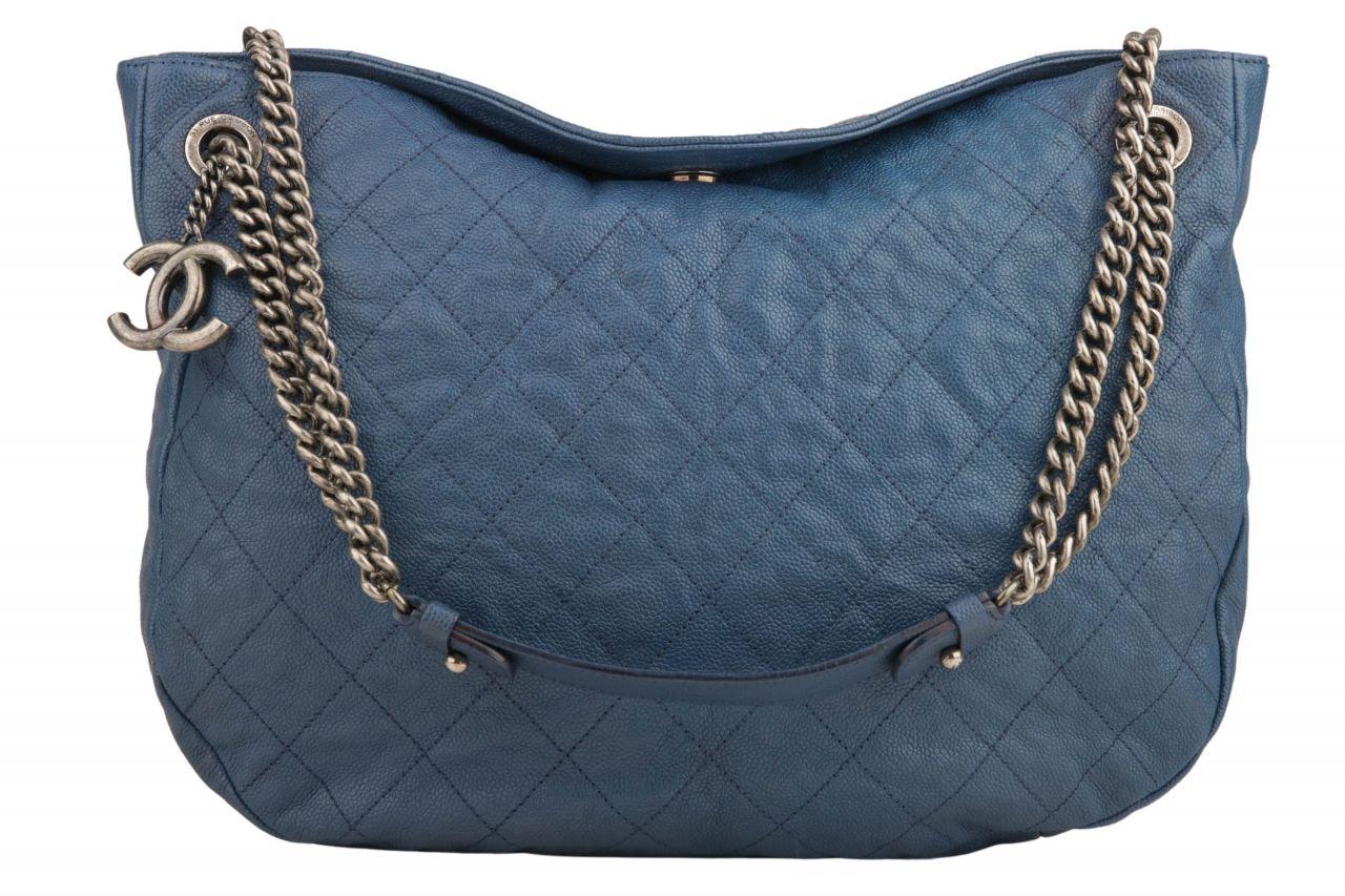 Chanel Shoulder Bag On Chain Blue