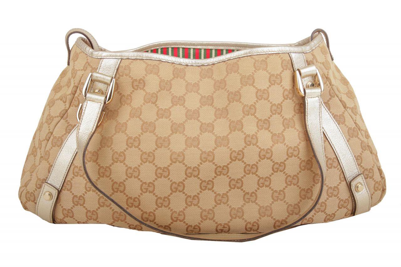 Gucci Shoulder Bag GG Canvas Beige