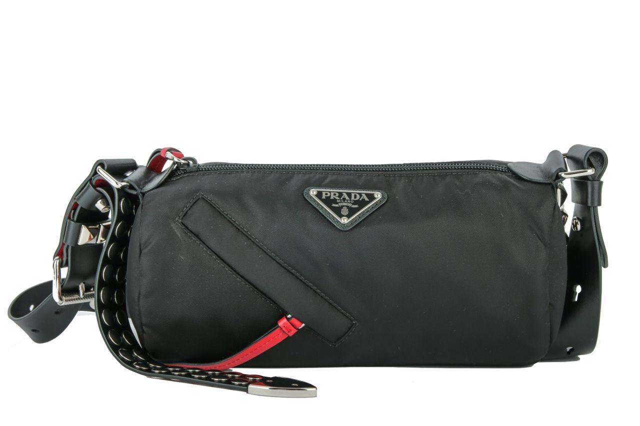 Prada New Vela Shoulder Bag Black