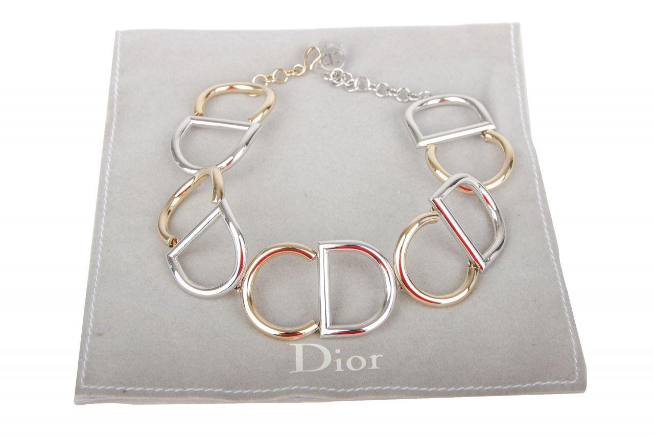 Dior CD Choker Bicolor Gold/Silber
