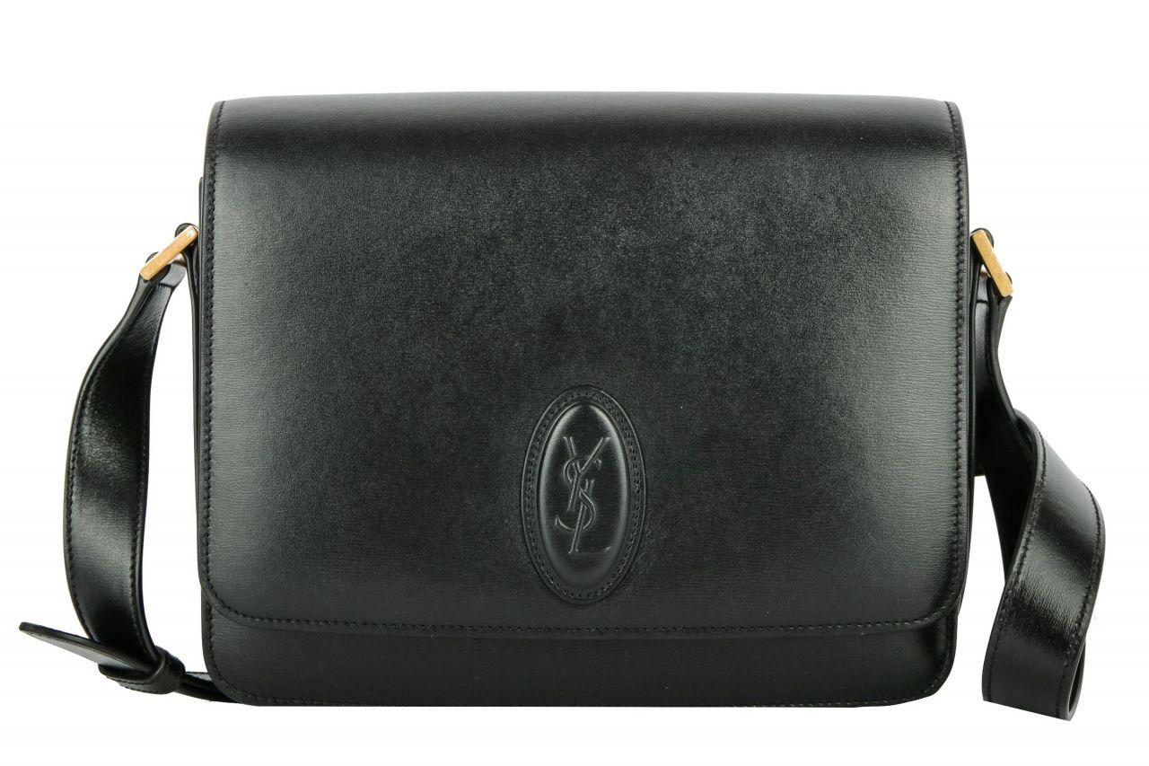 Saint Laurent Le 61 kleine Satteltasche Black