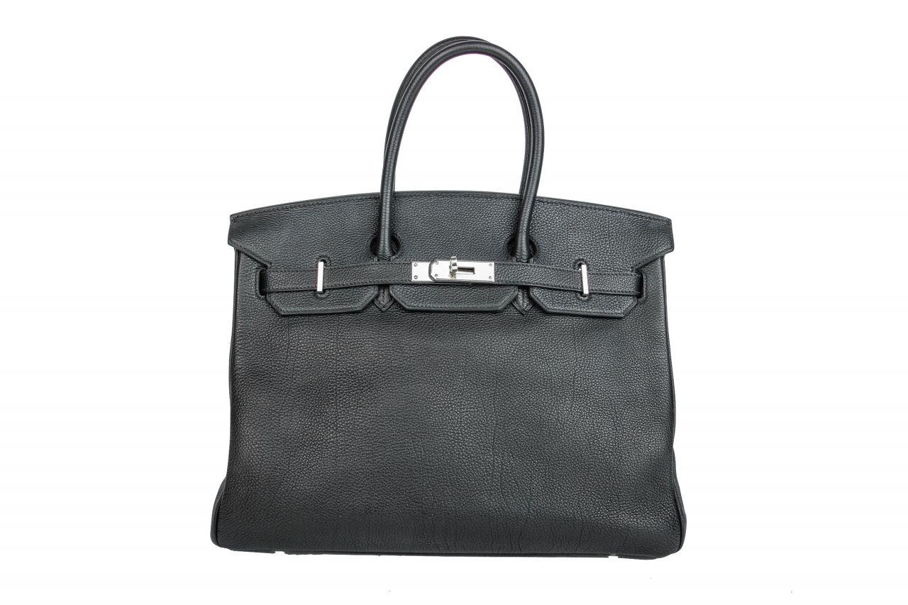 Hermès Birkin 35 Schwarz Togo Leder