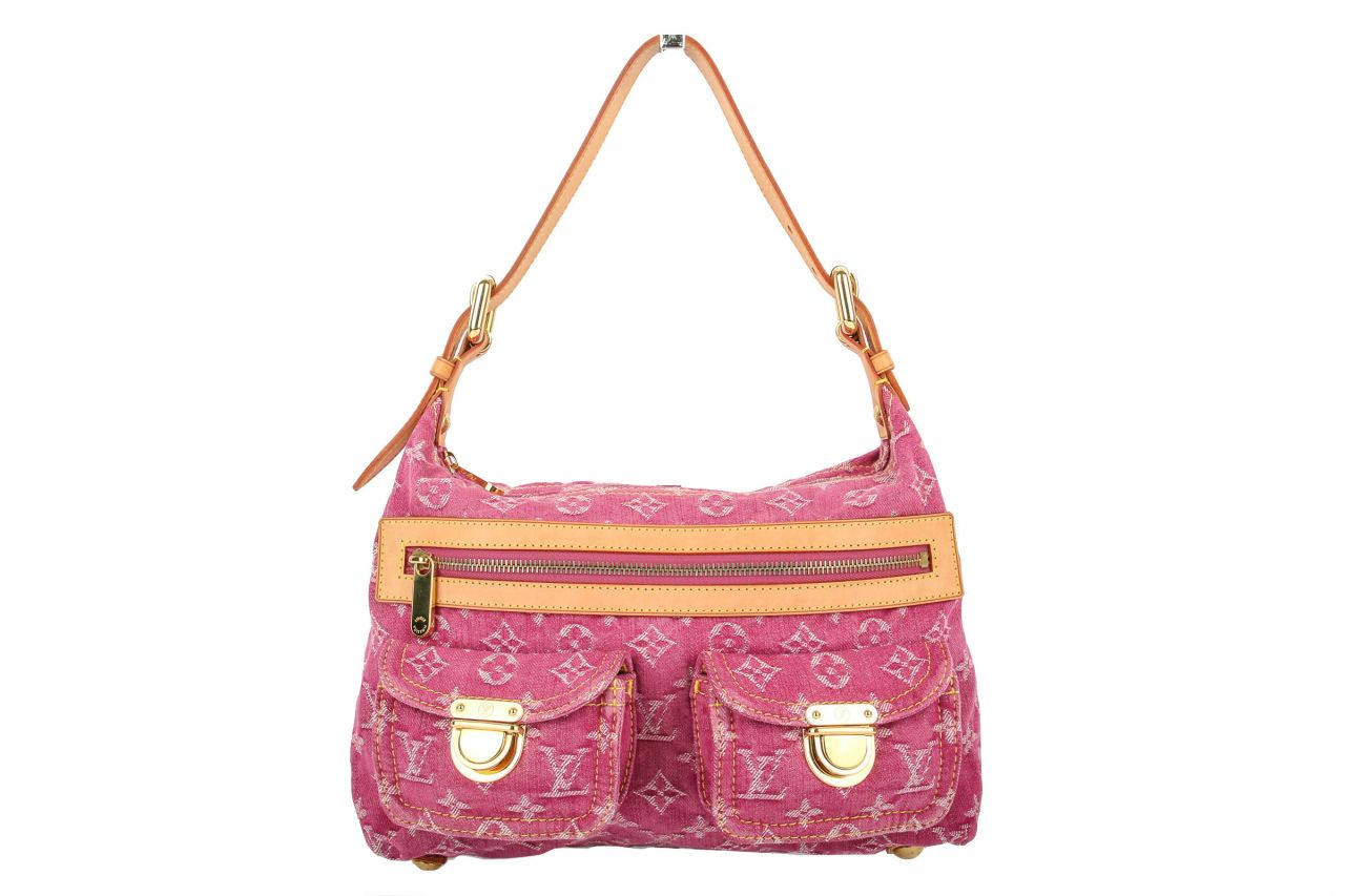 Louis Vuitton Baggy PM Monogram Denim Pink