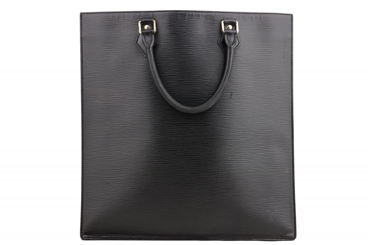 Louis Vuitton Sac Plat Epi Tote Bag Black