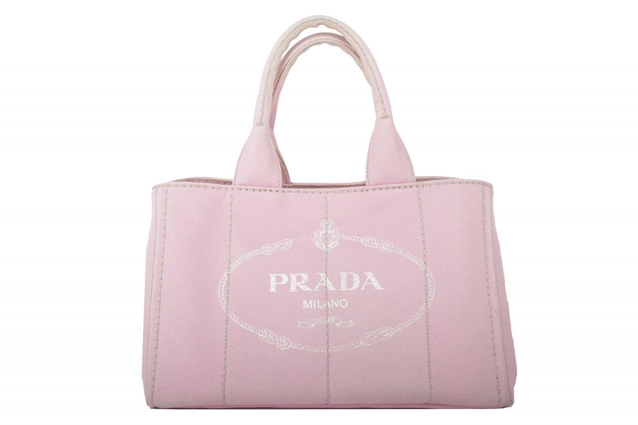 Prada Canapa Canvas Tote Bag Rosa
