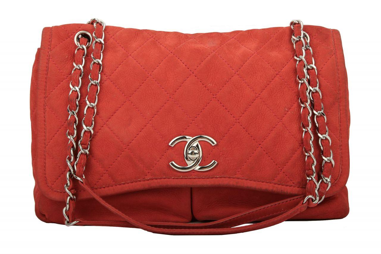 Chanel Wildleder Rot