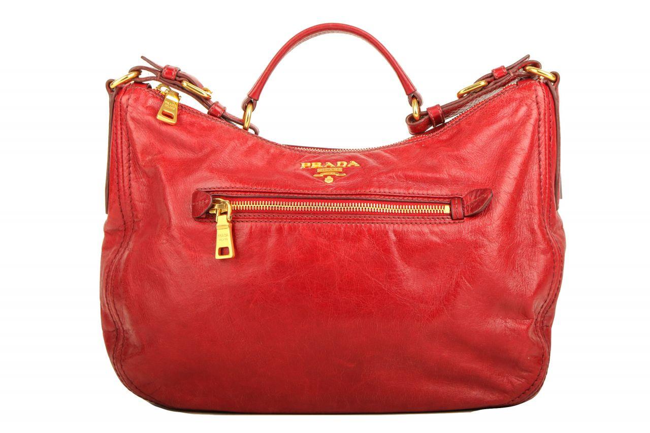 Prada Shoulder Bag Vitello Shine Red