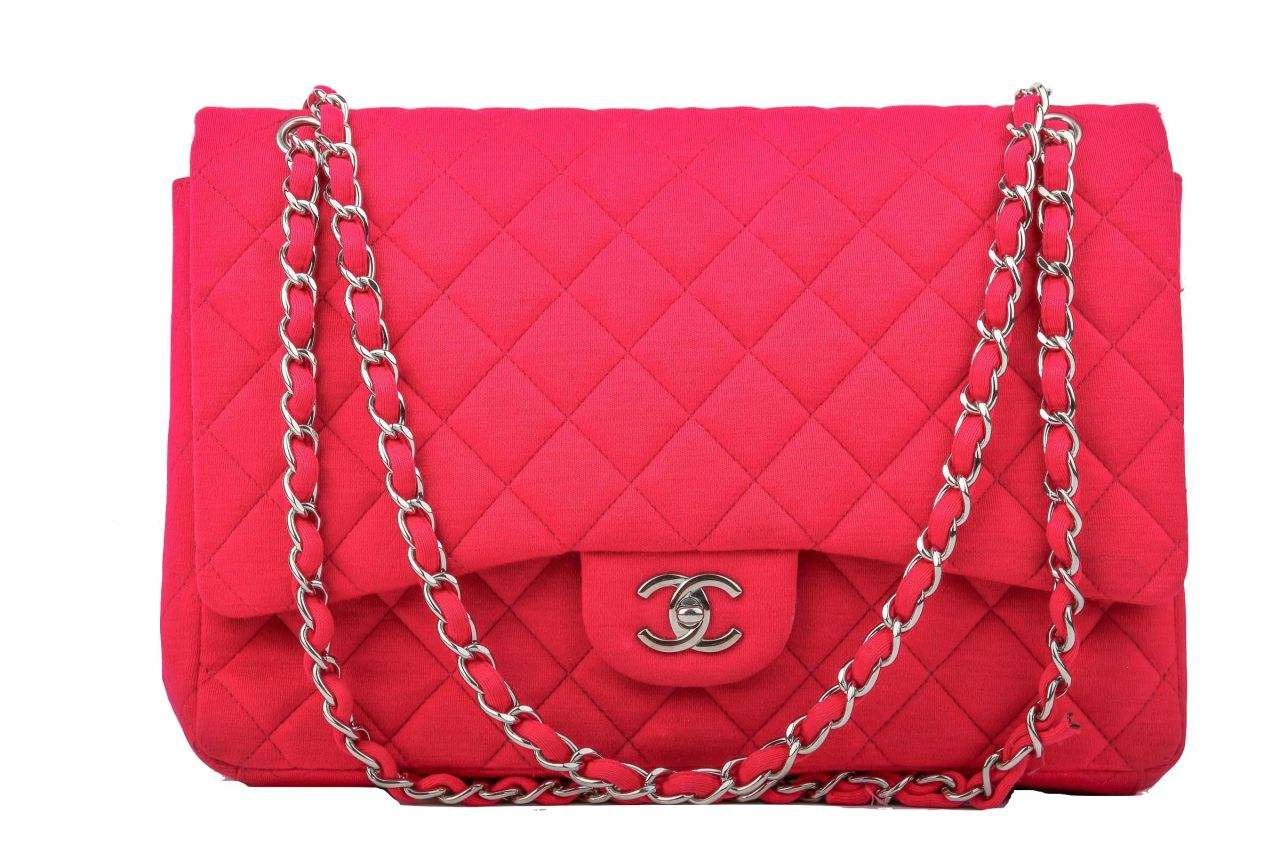 Chanel Timeless Classic Jumbo Pink Jersey