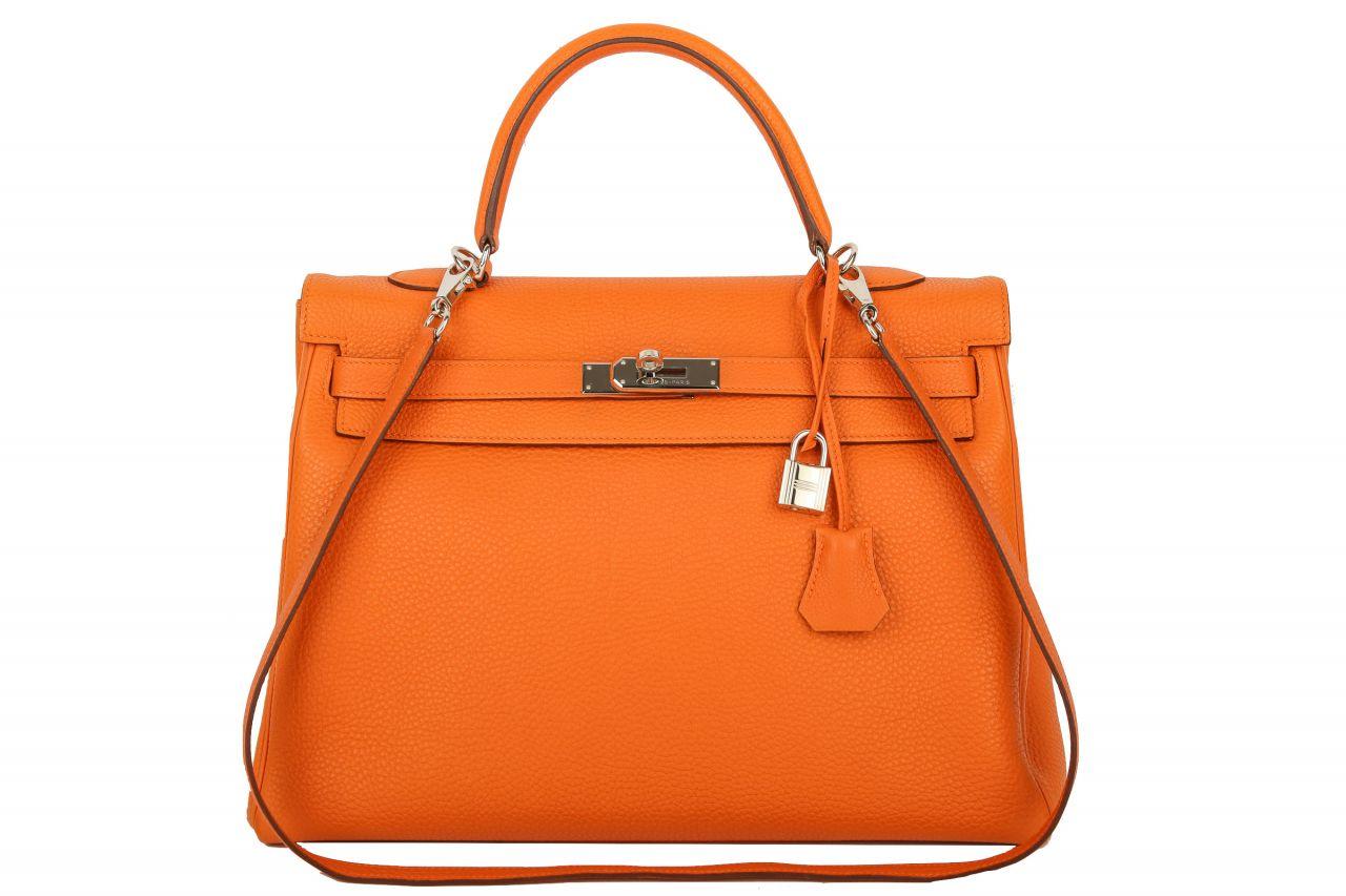 Hermès Kelly 35 Retourne Togo Orange