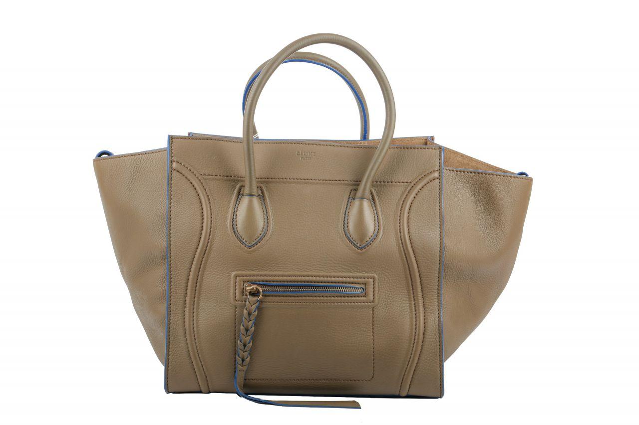 Céline Phantom Bag Medium Taupe
